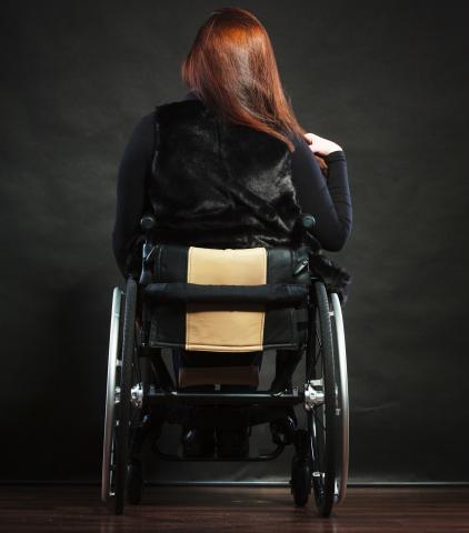 Persoon in rolstoel