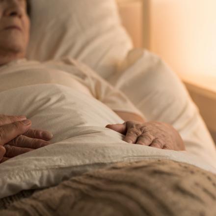 Doorligwonden: patiënt in bed