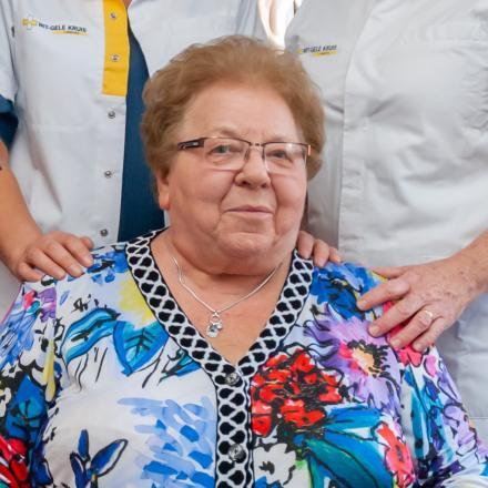 Suzanne en haar verpleegkundigen