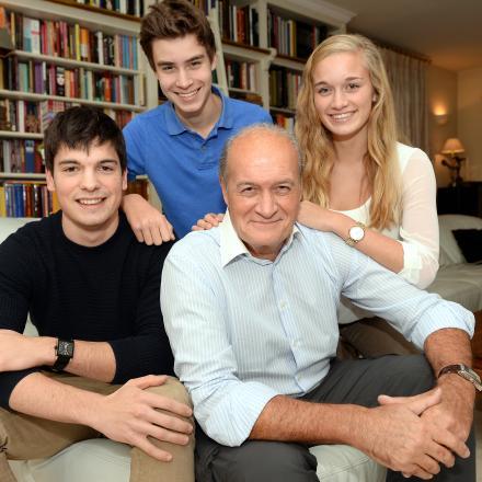Jacques Vermeire en zijn gezin