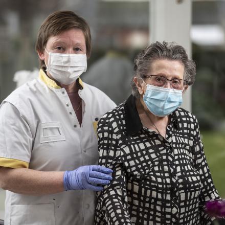 Verpleegkundige Carine en patiënt Marcella