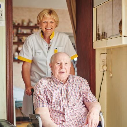 Patiënt en thuisverpleegkundige