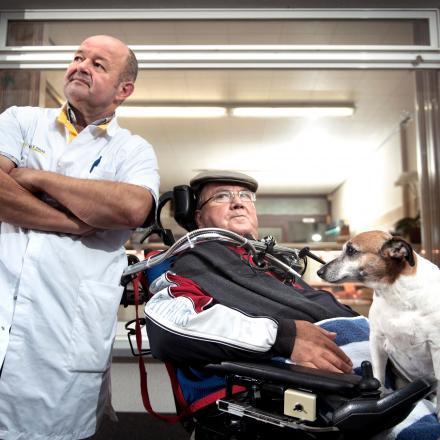 Verpleegkundige Rudi en patiënt Paul