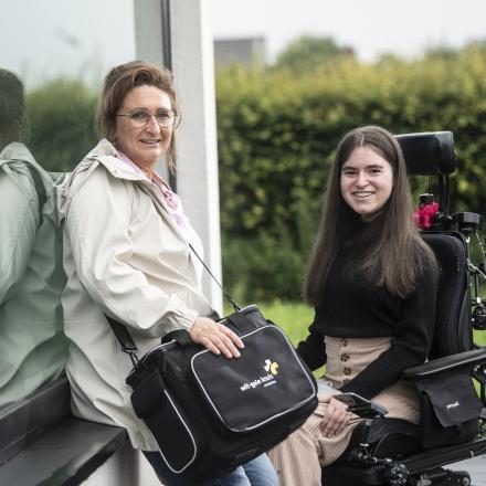 Veronique lijdt aan een progressieve spierziekte